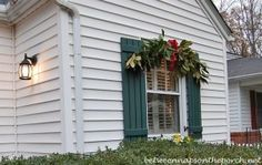Decorate for Christmas with Swags over Windows_wm