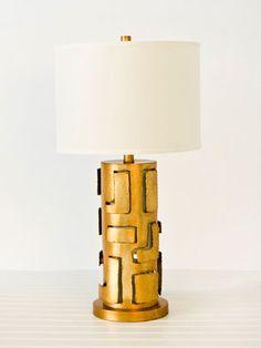 Brutal Lamp - Worlds Away #gold leaf #lamp