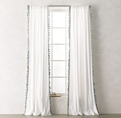 RH TEEN's Tassel-Trimmed Voile Drapery Panel:Dainty tassels line the edge of lightweight cotton voile, infusing our airy window covering with stylistic flair and a hint of the exotic.