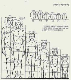 인물] 참고 신체 비율 그리는 법 몸 얼굴 자세히 참고