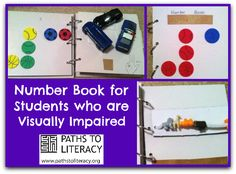 Try this tactile book for introducing numbers to young braille readers!