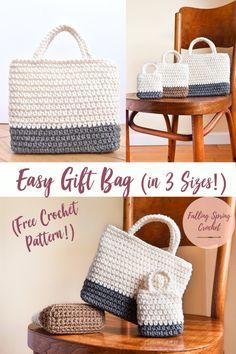 Falling Spring Crochet Gift Bag Crochet Pattern Image