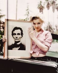 Marilyn with Abe