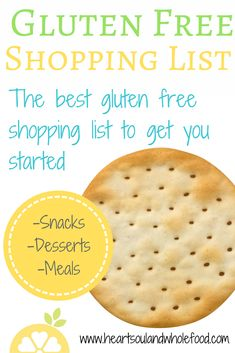 Learning how to start shopping for gluten free products can be overwhelming. I have compiled a list of the healthiest options to get you started.