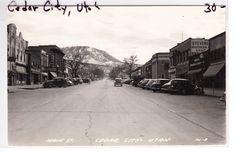 Cedar City Utah Street Scene 1947