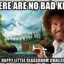 Would love to own a Bob Ross painting. But, I wouldn't buy one because you can't be sure it's by Bob Ross since there are a lot of people copying his work. But that's how he made his money by teaching people to pain like him. Classroom Humor, Art Classroom, Classroom Posters, Humor Videos, Pinturas Bob Ross, Teaching Memes, Happy Little Trees, Bob Ross Paintings, Art Paintings