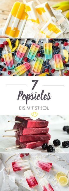 Popsicle Rezepte: 11 Ideen für Eis am Stiel - ohne Eismaschine Your summer will be cool - pretty cool even. No, not because oh so cool wannabe musicians are honoring themselves, but because a lo Frozen Desserts, Summer Desserts, Frozen Treats, Fun Desserts, Dessert Recipes, Summer Recipes, Mango Recipes, Cream Recipes, Baby Food Recipes