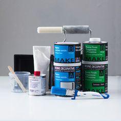 Pintura para azulejos, encimeras y suelos al agua Msv, Facial Tissue, Cool Kitchens, Nice Kitchen, Personal Care, Wooden Countertops, Garden Container, Painted Doors, Painted Tiles