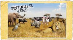 Weekendtip 4kids week 28: The Big Five!  Dit weekend wacht er weer een spannend avontuur. We gaan op Safari! Niet in Afrika hoor :) maar gewoon lekker dichtbij in Safaripark de Beekse Bergen bij Hilvarenbeek. En natuurlijk met korting. Want wat is er nu leuker dan de mooiste dieren uit de jungle dichtbij te kunnen bekijken vanuit de auto, boot, bus of gewoon lopend. Alles is mogelijk! Vrolijk en ik gaan op zoek naar The Big Five, de 5 meest legendarische dieren uit Afrika.