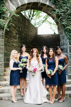Fun-Loving Couple Creates Intimate New York Wedding in Tryon Park from AhmetZe - bridesmaid dresses