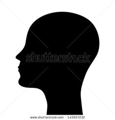 silhouette of a man head - stock vector