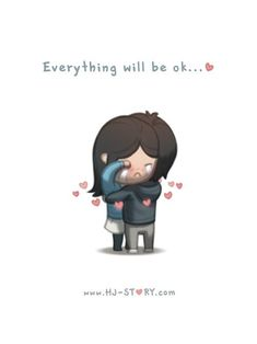 Hj-Story :: everything will be ok.i will always be there for you, no matter what i'll help you, i'll save you, i'll fight for you, be what ever you need Cute Love Quotes, Cute Love Pictures, Cute Love Stories, Love Images, Love Story, Love Cartoon Couple, Chibi Couple, Cute Love Cartoons, Anime Love Couple