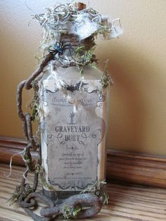 Primitive Chained Halloween Bottle by HBakerStudio on Etsy, $16.99