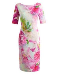 JOANNA HOPE FLORAL PRINT SCUBA DRESS UK14 #JoannaHope #BodyconDress #Formal