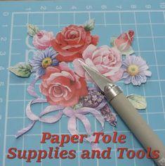 Papier Paper Tole 3D Decoupage Equipment and Tools