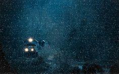 Nieva en la noche...
