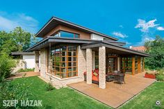 Fények a tető alatt - Szép Házak Travertine, Home Fashion, Gazebo, Bali, Exterior, Outdoor Structures, Mansions, House Styles, Cottages