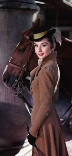 """Audrey Hepburn on the set of """"War and Peace', 1956."""