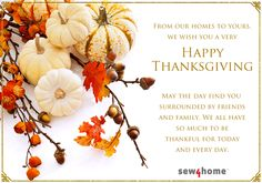 Happy Thanksgiving from Sew4Home