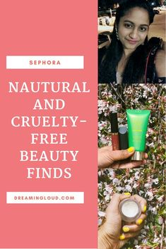 Favorite Natural and Cruelty-Free Beauty Products From Sephora | dreamingloud.com --------------------------------------- Tata harper regenerating cleanser, best of natural beauty products for spring, best natural beauty lipsticks, RMS beauty living luminizer, bite beauty lipsticks, tarte cream matte lip paints in tbt, fomo, lovespell, ilia lipstick review, green beauty, natural makeup, cruelty free beauty
