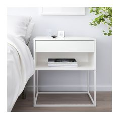 IKEA offers everything from living room furniture to mattresses and bedroom furniture so that you can design your life at home. Check out our furniture and home furnishings! Ikea Nightstand, White Nightstand, Nightstands, White Bedside Tables, Modern Bedside Table, Nightstand Ideas, Bedside Table Decor, Side Tables Bedroom, Bedroom Decor