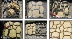 DIY 60cm Garden Stone Concrete Cement Paver Maker Walkmaker pathmaker mould   eBay