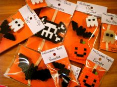 halloween perler bead hair accessories
