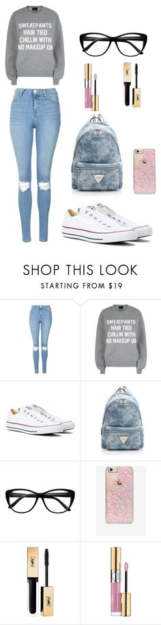 """""""Bez naslova #6"""" by silvada-comi ❤ liked on Polyvore featuring Topshop, Private Party, Converse, Skinnydip and Yves Saint Laurent"""