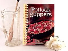 Potluck Suppers Cookbook 2007 Illustrated Spiral Hardback American Food Recipes
