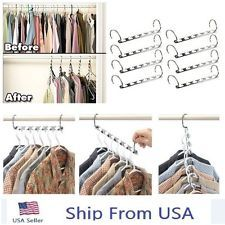 Clothes Hanger Organizer Closet Wardrobe Rack Space Saver Storage Metal Set of 8