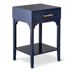 Threshold™ Accent Table with Bamboo Motif Handle - Navy, Target, $69.99. Make the handle silver and this would be perfect!