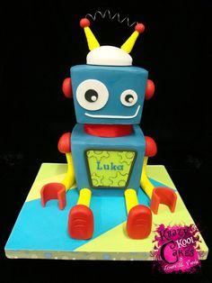 robot cake. Robot party