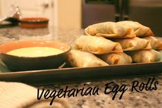 { Baked Vegetarian Egg Rolls } | Statements in Fashion