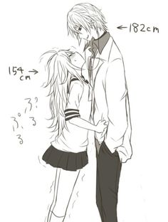 cute couples short girl tall guy anime - Google Search