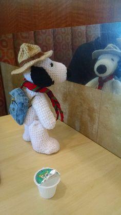 Crochet # amigurumi http://eltallerdesahiel.blogspot.mx/ , tejido, scout, snoopy