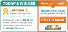 Right Now: Daily Winner Announcement!   Sweepstakes For Days