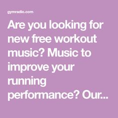 Are you looking for new free workout music? Music to improve your running performance? Our songs you want to have on your playlist! Come on!