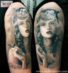 Tattoo Artist - Anabi Tattoo - woman tattoo | www.worldtattoogallery.com