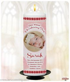This is a beautiful Babys Christening Candle, its in height made to order with all your baby's Christening details on it. Available in both PINK & BLUE Personalized Bookmarks, Personalized Candles, Beautiful Verses, Baby Information, Baby Christening, Baby Names, Baby Photos, Candle Jars, Cuddling