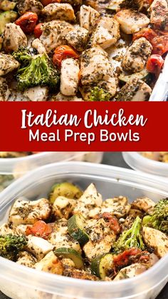 This Italian Chicken is seasoned perfectly and cooks right with vegetables. So amazing. If you are already making the effort to meal prep, you shouldn't have to sacrifice deliciousness! Enjoy this easy to make, and wonderful to eat, meal prep plan!