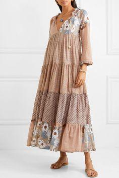 Yvonne S - Hippy tiered printed cotton-voile maxi dress - Trendy Dresses Hippie Dresses, Boho Dress, Hippy Dress, Diy Kleidung, Boho Fashion, Fashion Outfits, Bohemian Mode, Cotton Dresses, Maxi Dresses