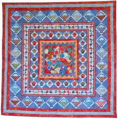 A Tisket a Tasket, 2014 raffle quilt designed by Judy Mayer, Northern Star Quilters Guild (New York)