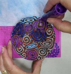 Playing with Gelatos on fabric