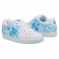 DC Shoes Pixie Scroll Plaid Shoes (White/Turquoise) - Women's Shoes - 10.0 M