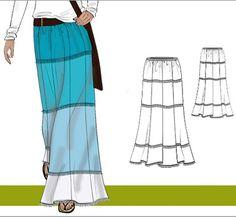 Tiered Maxi Skirt http://keepsakecrafts.net/blog/2012/04/05/tiered-maxi-skirt-free-pattern/