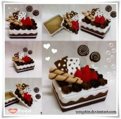 Chocolate mocha cake box