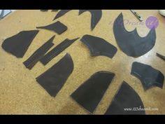 Calzado Artesanal Parte 7- Corta las piezas en piel - YouTube