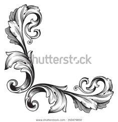 Head Tattoos, Tribal Tattoos, Arabesque, Filagree Tattoo, Baroque Frame, Gothic Windows, Diamond Tattoos, Illustration, Retro Pattern