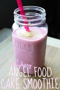 Strawberry Angel Food Cake Smoothie - The Local Vegan // www.thelocalvegan.com