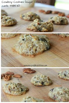 Cowboy Cookies (Sugar free, low carb, THM S)